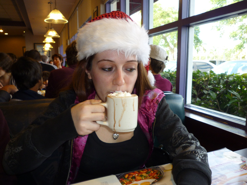 Christmas Breakfast at Dennys in Miami