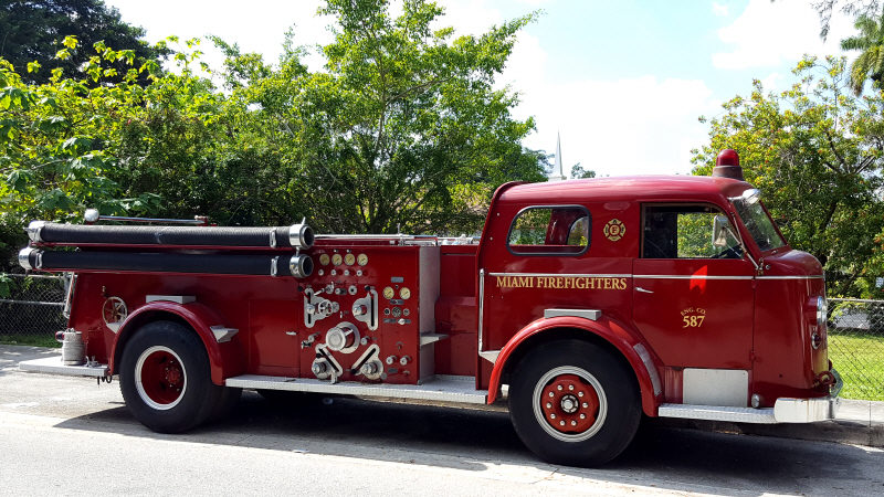 Historic fire engine from Miami Firefighters and Paramedics - Local 587